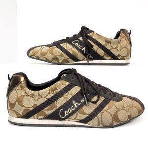 Coach Size 9.5 Brown Suede Henrietta Sneakers